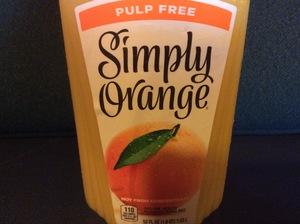 Orange Juice-Simply Orange Pulp Free 52oz.